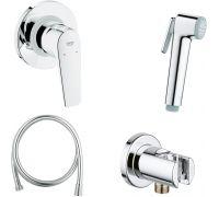Гигиенический душ Grohe BauFlow 124900 со смесителем, С ВНУТРЕННЕЙ ЧАСТЬЮ