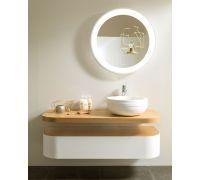 Aro Комплект мебели (тумба+столешница+раковина+донный клапан+сифон+зеркало)
