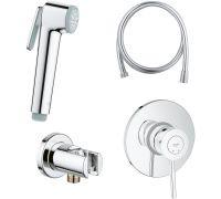 Гигиенический душ Grohe BauClassic 124901 со смесителем, С ВНУТРЕННЕЙ ЧАСТЬЮ