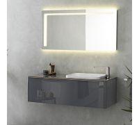 Lounge Antracita Комплект мебели (тумба+столешница+раковина+зеркало)