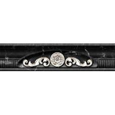 Керамический бордюр Aparici (Апаричи) Statuario Site Negro Cenefa 6*25,1 см из Испании для ванной комнаты, кухни, прихожей, квартиры и дома
