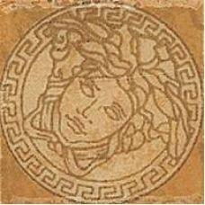 Итальянский керамический декор Versace (Версаче) Palace Medusa Oro 14637 2,8*2,8 см для ванной комнаты, кухни, прихожей, квартиры и дома