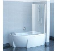 Шторка для ванны Ravak Chrome CVSK1 Rosa 140/150