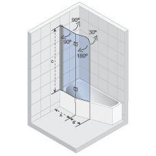 Шторка для ванны Riho (Рихо) Nautic (Наутик) N500 Delta 150/160