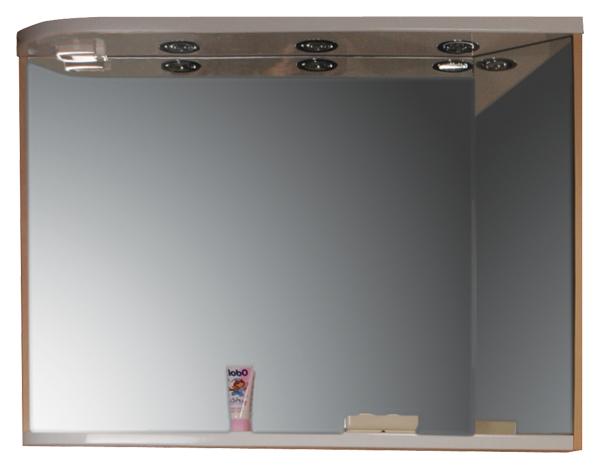 Зеркало Ravak M780 с полкой, встроенными точечными светильниками и розеткой
